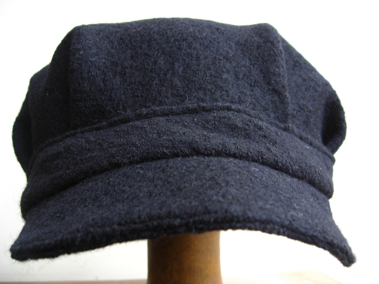 Reduced Steam Engine Driver Black Wool Cap Casey Jones