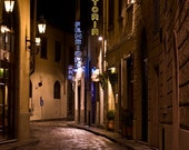 Via Del Trebbio at Night - 8 x 12 Fine Art Color Photograph