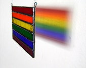 Rainbow Flag Pride Stained Glass Gay Birthday Wedding Valentines Housewarming Handfasting Engagement Friendship Original Design©