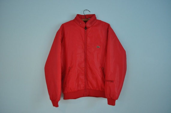 RESERVED FOR marcus veyera // mens vintage jacket Lacoste red 1980's