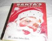 Vintage 1976 Little Golden  Santa's Surprise Book