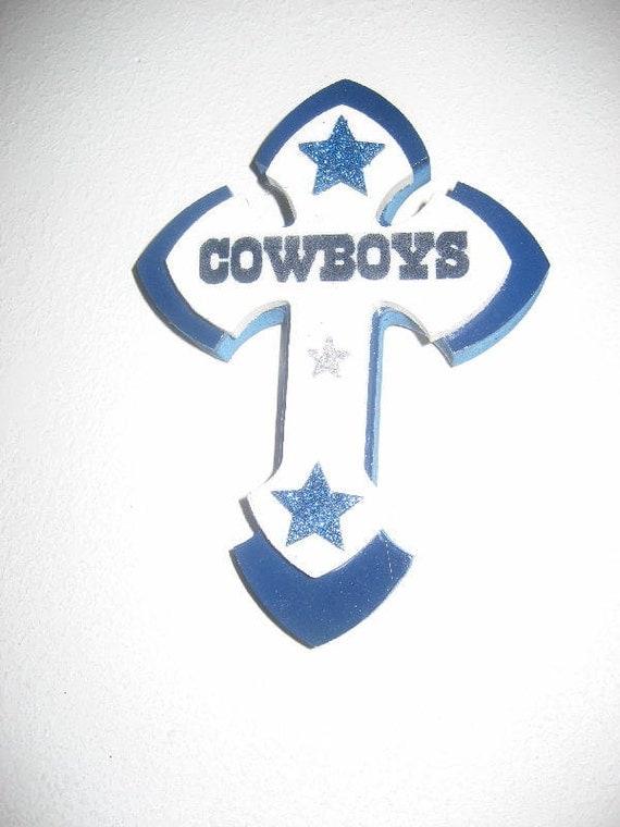 Dallas Cowboy Stacked Cross