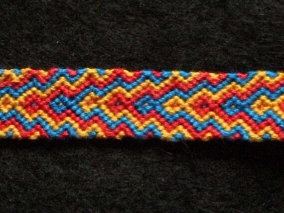 tricolour zig zag arrowhead friendship by jewelryandneatthings
