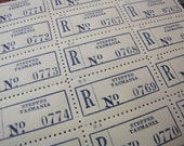 OLD Australia Tasmania Registered Mail Postage Labels for Altered Arts Mixed Media Collage