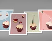 Cupcakes - Set of 4 Prints