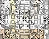 Geometric Labyrinth - Labyrinth Print 8x8