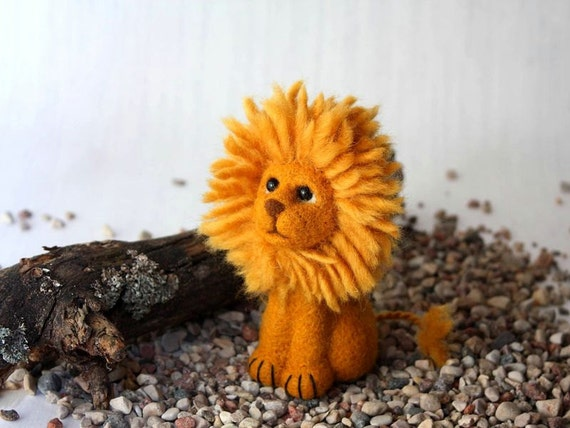 Lion Needle Felted Soft Sculpture