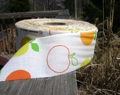 Vintage Apple fabric roll