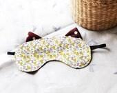 Yellow Kitty Eye Mask