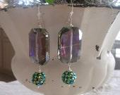 Chinese Crystal Bling Drop Earrings