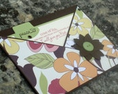 Pocket Style Encouragement Card with Modern Flowers and Matthew 11 Scripture