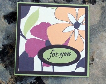 Tropical Floral For You Gift Enclosure Card