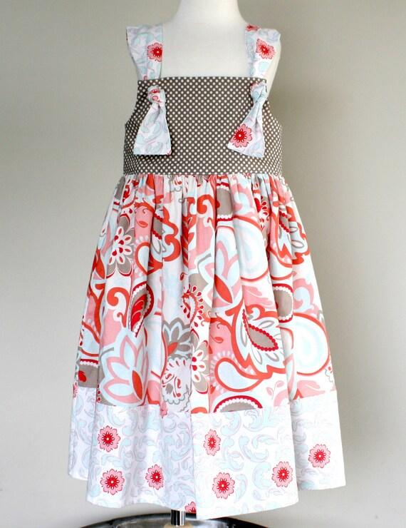 Summer 2012 JENNA knot dress 12mo. 18mo. 2t. 3t. 4t. 5t