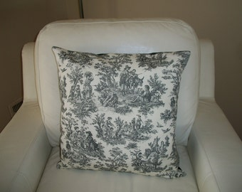 Toile Throw Pillow Covers ~ Set of 2 ~ French Country ~ 18 x 18 ~ Toile de Jouy Pillow Cover