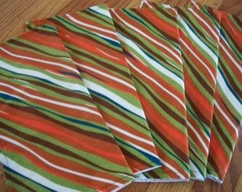 Wavy Stripe Napkins Set of 5 Retro Mod