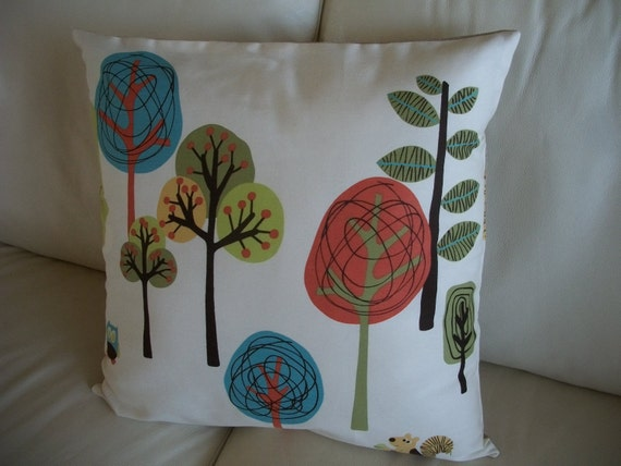 Modern Trees Pillow Cover 18 x 18