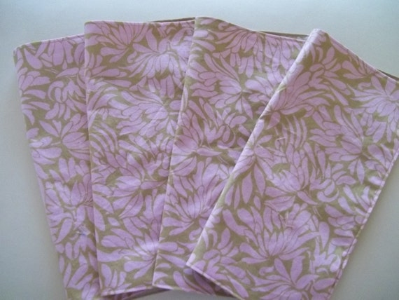 Cloth Napkin Set of 4 Amy Butler Daisy Chain Pink Tropical Floral