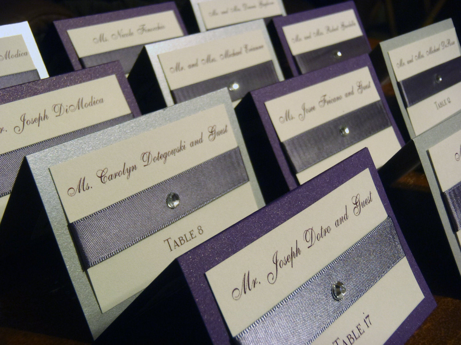 Elegant wedding place cards by klcdesigns on etsy for Place cards for wedding