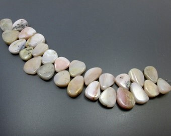 Pink Opal Organic Drop Shape 7.5 Inches YP3263