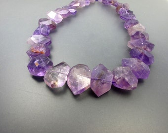 Luminous Amethyst Faceted Chunk Shape ZA3369