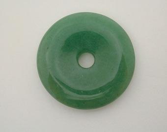 35mm Green Avanturine Donut Pendant (1pc) G3095
