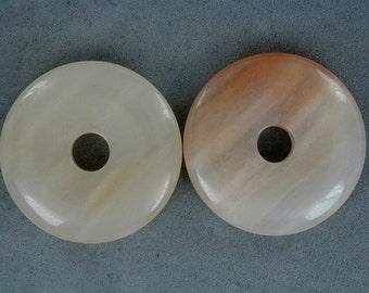 40mm Peach Aventurine Donut Pendant  (2pc) YP3169