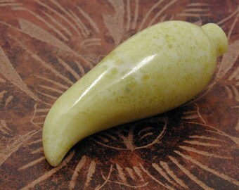 Lime Green Chilli Pepper Pendant  1 pc