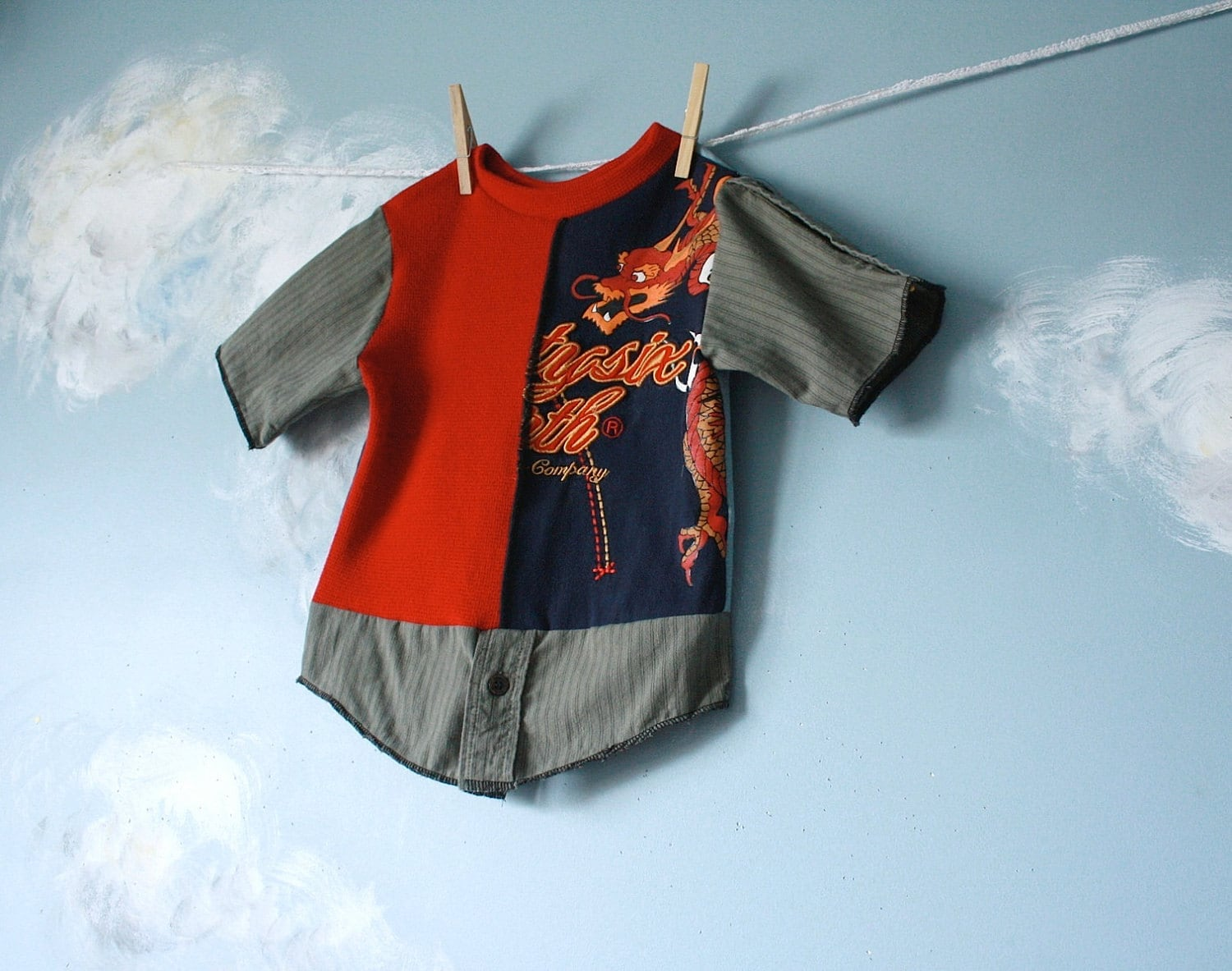 Upcycled Boy S T Shirt 3t 4t Children S Clothing Blue