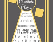 Cornhole Classic- Custom Fun Invite - PRINTABLE INVITATION DESIGN
