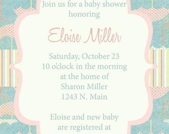 Eloise- Custom Baby Shower Invitation - PRINTABLE INVITATION DESIGN