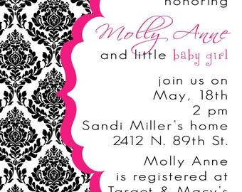 MollyAnne-Custom Baby Shower Invitation- PRINTABLE INVITATION DESIGN