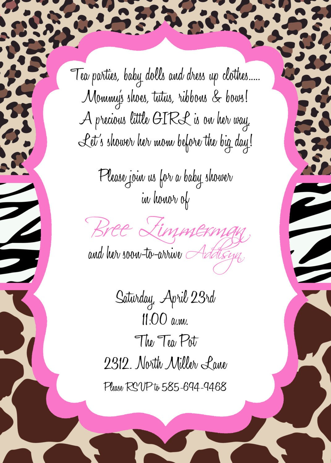 Cheetah Party Invitations is best invitations example