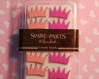 8 pc. Princess Crown Brads