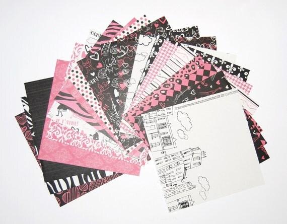 Oh la la Paper Pack 20 Sheets 6x6