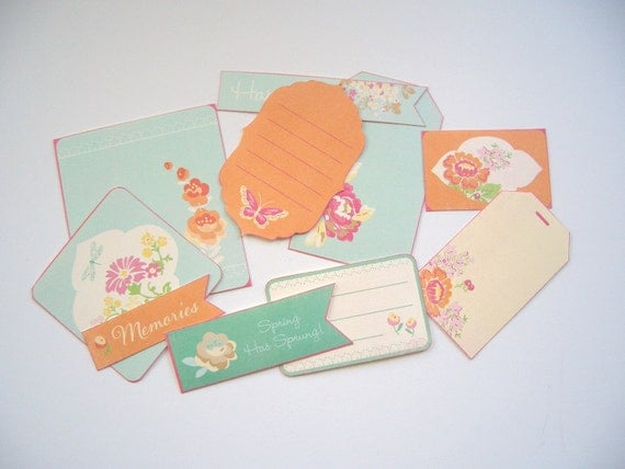 Spring Tags 10 pieces