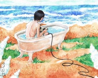 July ORIGINAL Watercolor