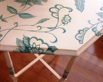 Hand painted Furniture Floral Vine Table