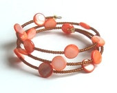 Christmas Sale Price Memory Wire Orange You Glad Bracelet