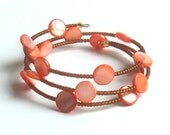Christmas Sale Price Memory Wire Orange You Glad Bracelet
