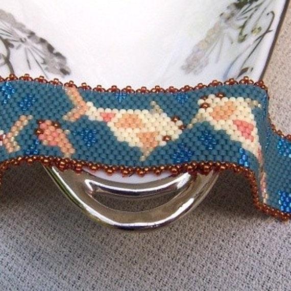 Koi Fish Bracelet Hand Beaded Peyote Stitch
