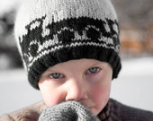 Boy's Knit Hat with Train Cars - Captain Caboose