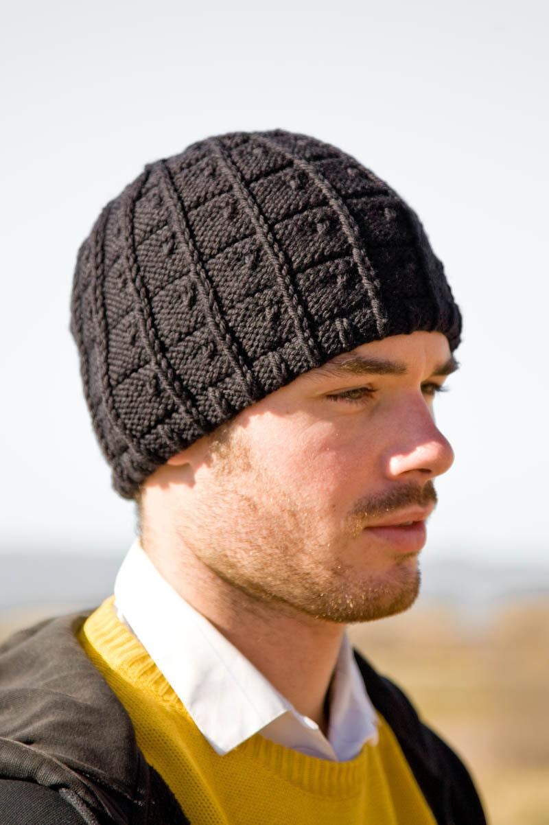 Knitting Pattern for Men's Hat J.T. by Woolibear on Etsy