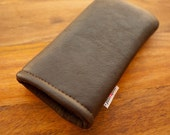 New iPhone 6S Sleeve / iPhone 4S Sleeve  / iphone 5 case / iphone 5 cover / iphone 5 leather wallet / Nexus 4 - Brown Leather