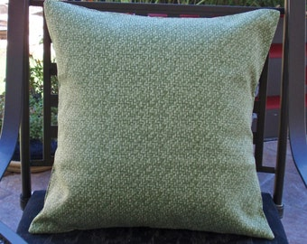 """Throw Pillow Cover, Handmade Decorative Palm Green Outdoor Patio Throw Pillow Cover, Green Outdoor Throw Pillow Cover, 18x18"""" - LAST ONE"""