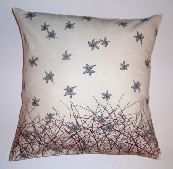 Throw Pillow With Removable Cover : Throw Pillow 16X16 Removable cover sewn with by PersnicketyHome