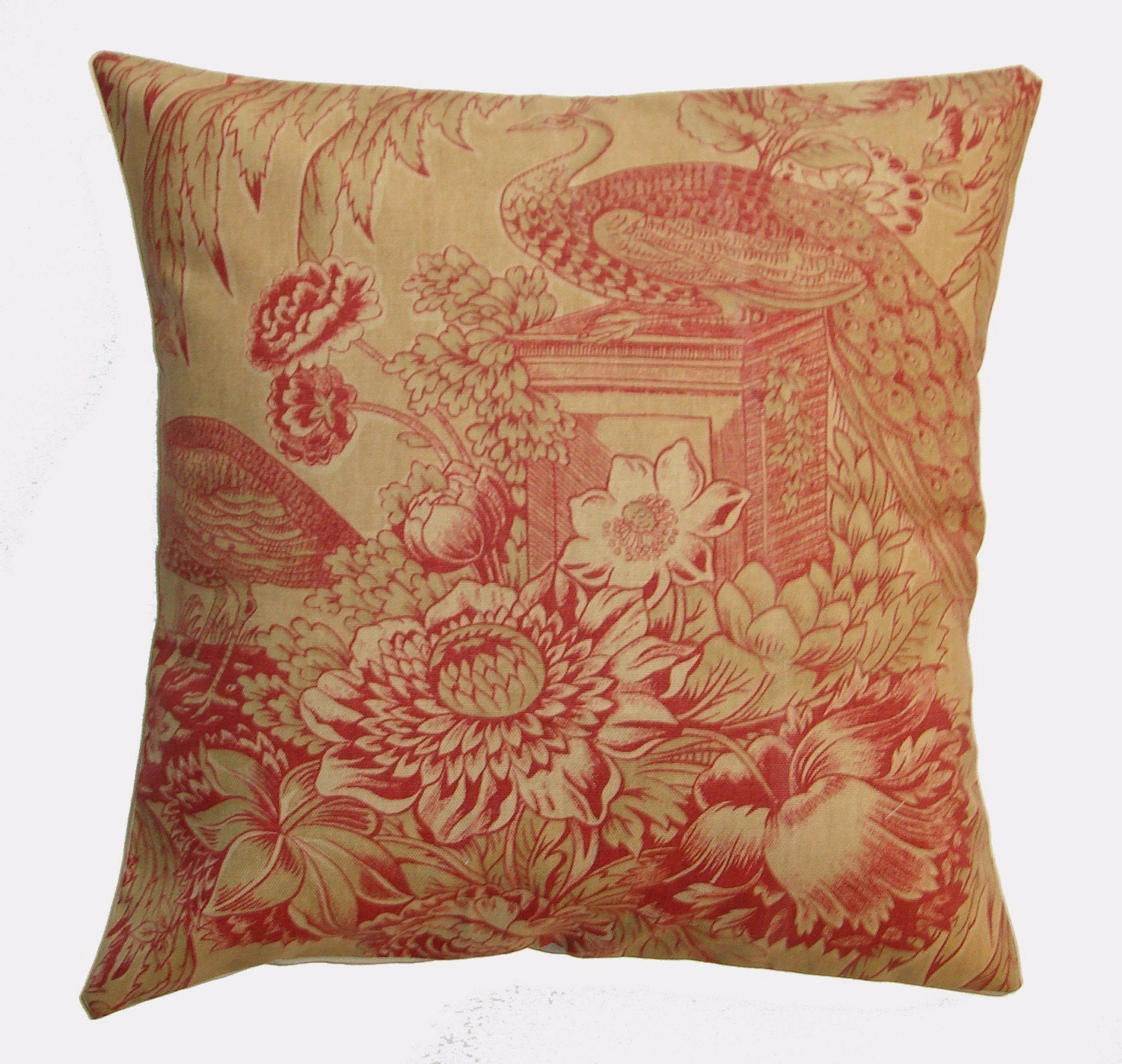 Throw Pillow 16X16 Removable cover sewn with a Lovely Ornate