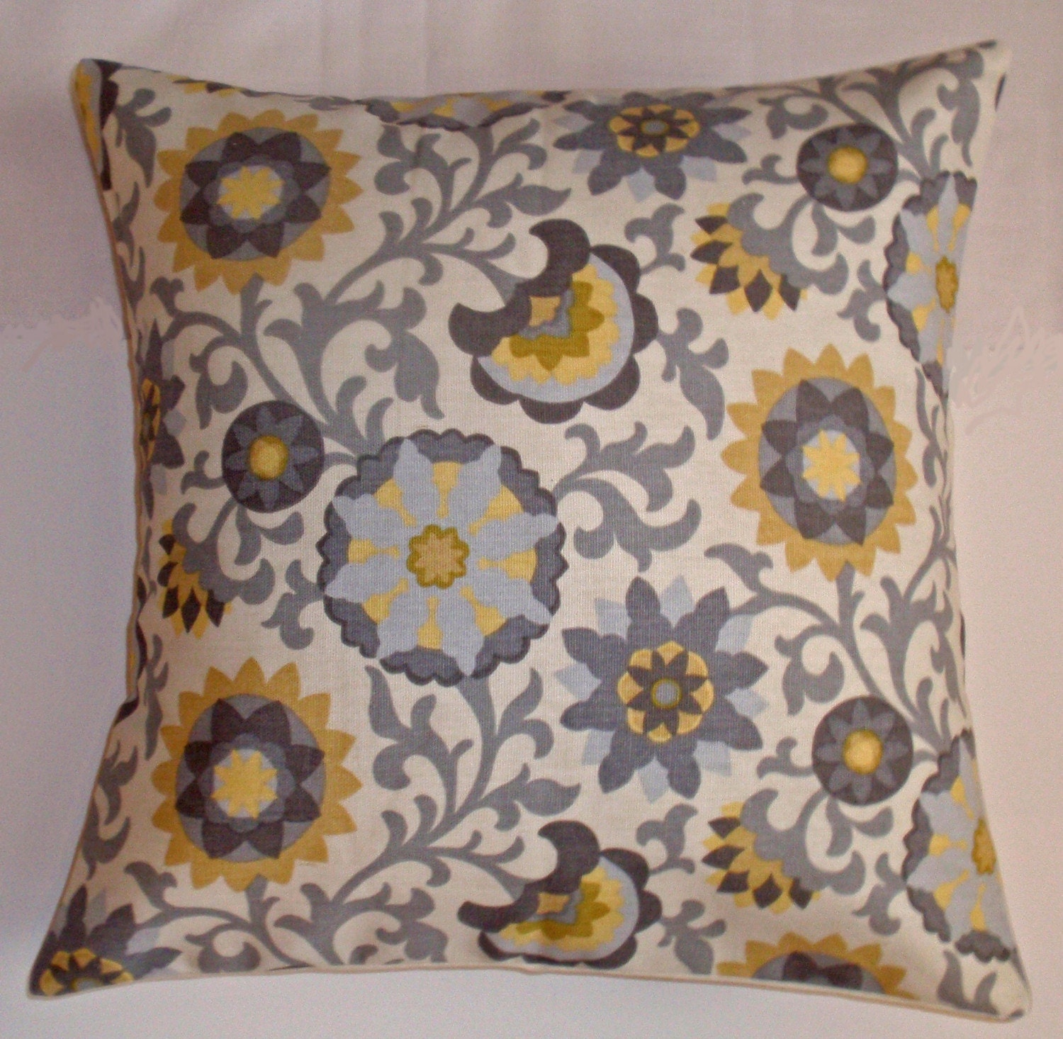 Throw Pillow 16x16 Removable cover sewn with Waverly s