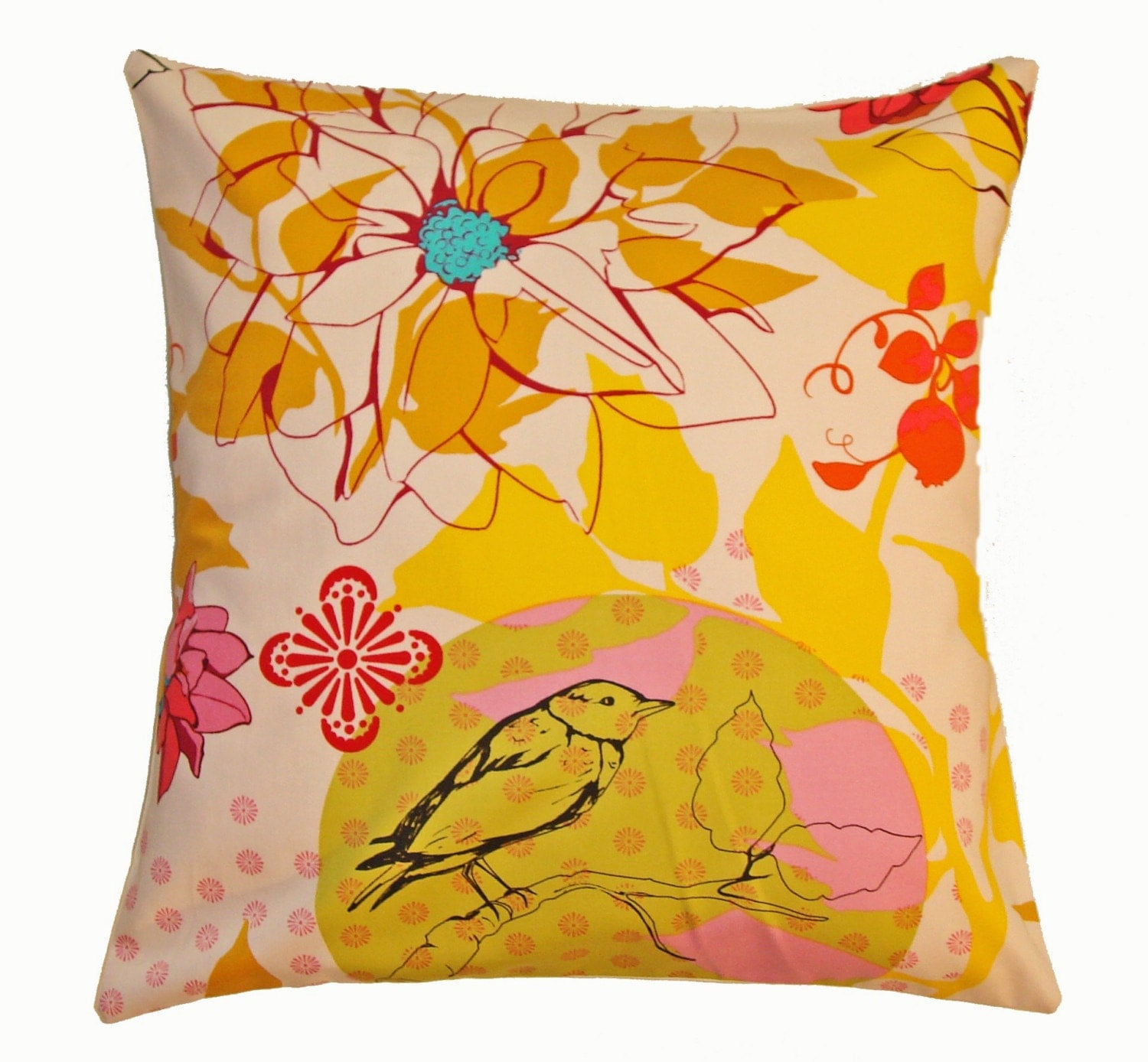 Throw Pillow 18X18 Removable cover sewn with Anna Maria