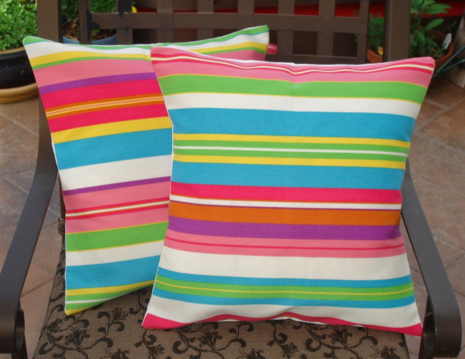Throw Pillow With Removable Cover : Throw Pillow removable cover 16x16 Set of 2 sewn with