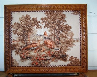 Framed Pheasant Art For Cabin - Lodge - Den